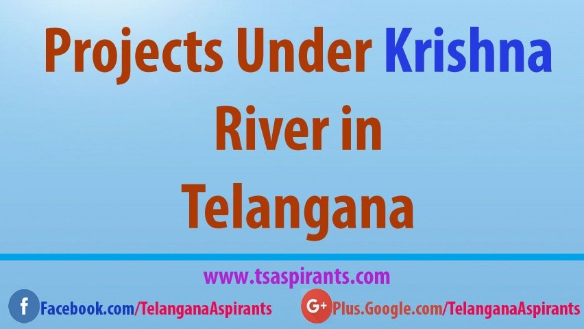 Telangana Irrigation hrms Projects on Krishna River