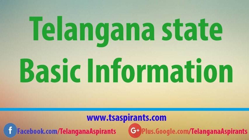 Telangana state basic information