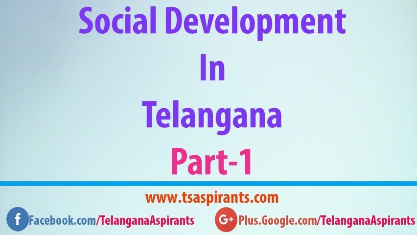 Telangana social welfare development Part-1