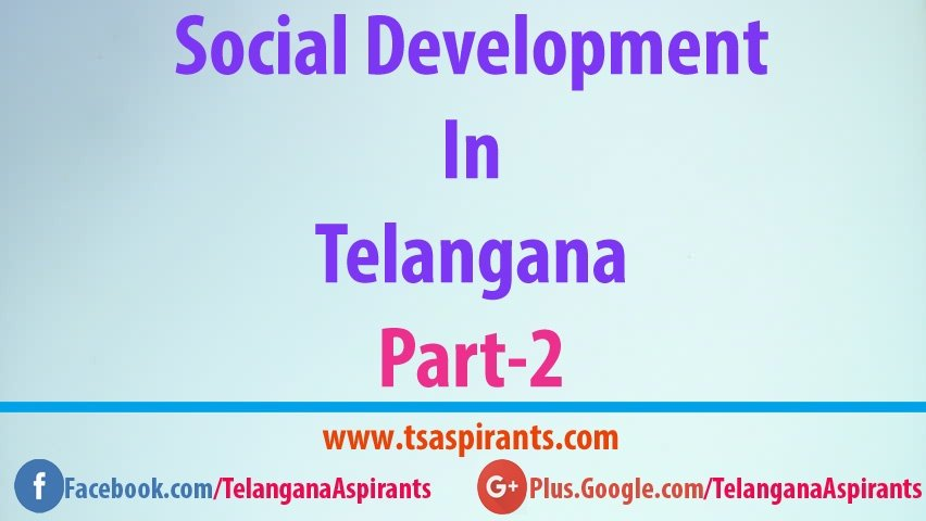 Telangana social welfare development