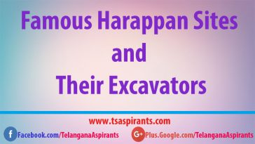 Harappan Sites and Excavators