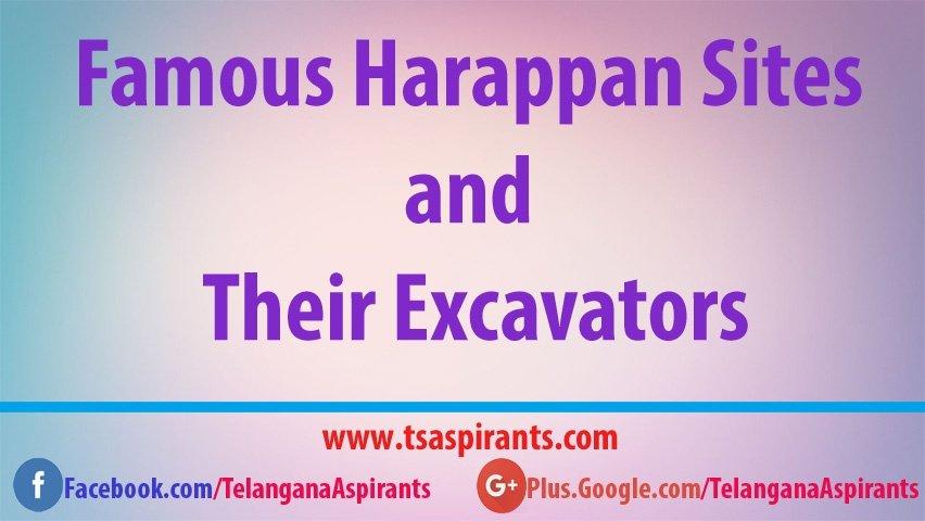 Harappan Sites and Excavators