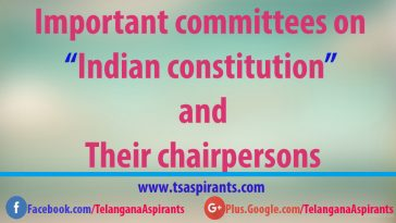 Indian constitution Committees