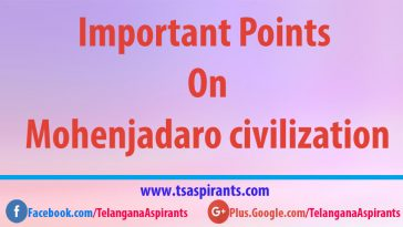 Important points on Mohenjadaro civilization