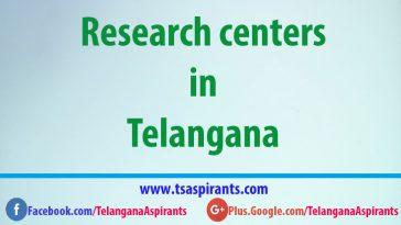 Telangana Research centres