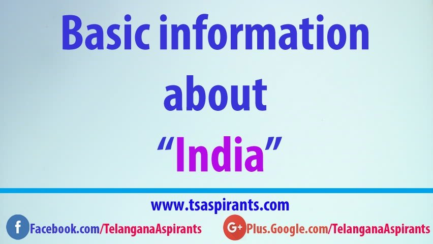 basic information about india