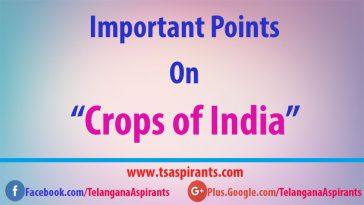 important crops in india