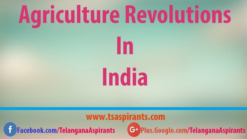 agriculture revolutions in india
