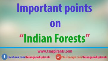 Important points on Indian Forests