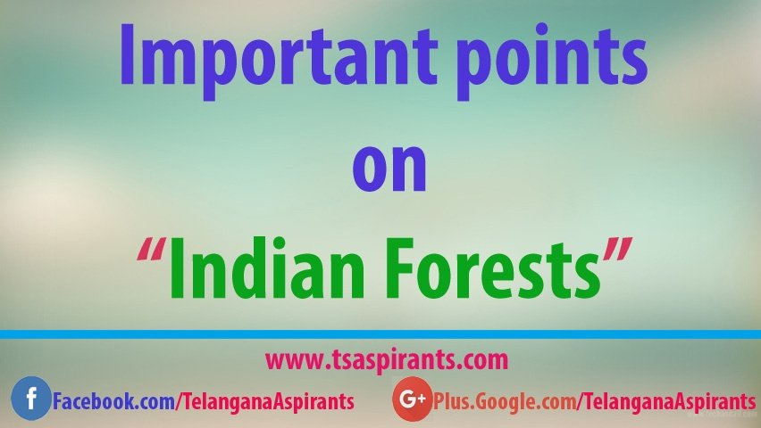 Indian Forests important points