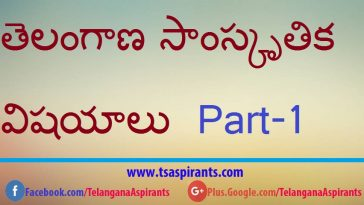 Telangana Culture తెలంగాణ సాంస్కృతిక విషయాలు