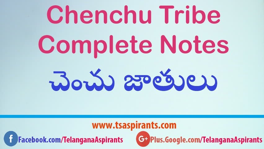 Chenchu Tribes Complete Notes