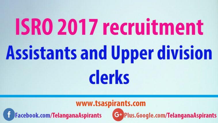 ISRO 2017 recruitment